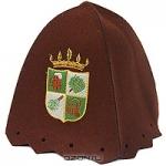 """Шапка для бани и сауны """"Банный герб"""", цвет: коричневый"""