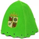 """Шапка для бани и сауны """"Банный герб"""", цвет: зеленый"""