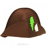 """Шляпа для бани и сауны """"Банный лист"""", цвет: коричневый"""