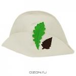 """Шляпа для бани и сауны """"Банный лист"""", цвет: белый"""