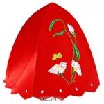 """Шапка для бани и сауны """"Нимфа"""", цвет: красный"""
