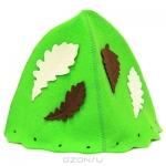 """Шапка для бани и сауны """"Банный лист"""", цвет: зеленый"""