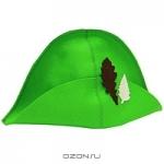 """Шляпа для бани и сауны """"Банный лист"""", цвет: зеленый"""