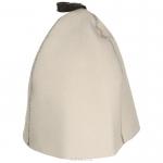"""Шапка для бани и сауны """"Трехклинка"""", цвет: белый. Б4542"""