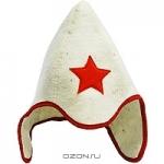 """Шапка для бани и сауны """"Буденовка"""", цвет: белый. Б414"""