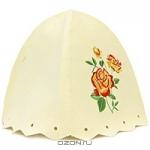 """Шапка для бани и сауны """"Роза"""", цвет: белый"""