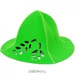 """Шапка для бани и сауны """"Ришелье"""", цвет: зеленый"""