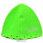 """Шапка для бани и сауны """"Сауна"""", цвет: зеленый"""